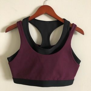 Fabletics sports bra purple/black L